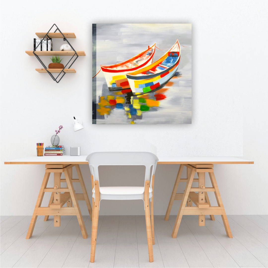 Colourful Abstract Modern art Nova Canvas Bright wall Canvas Abstract WallPainting 45CmX45Cm each set