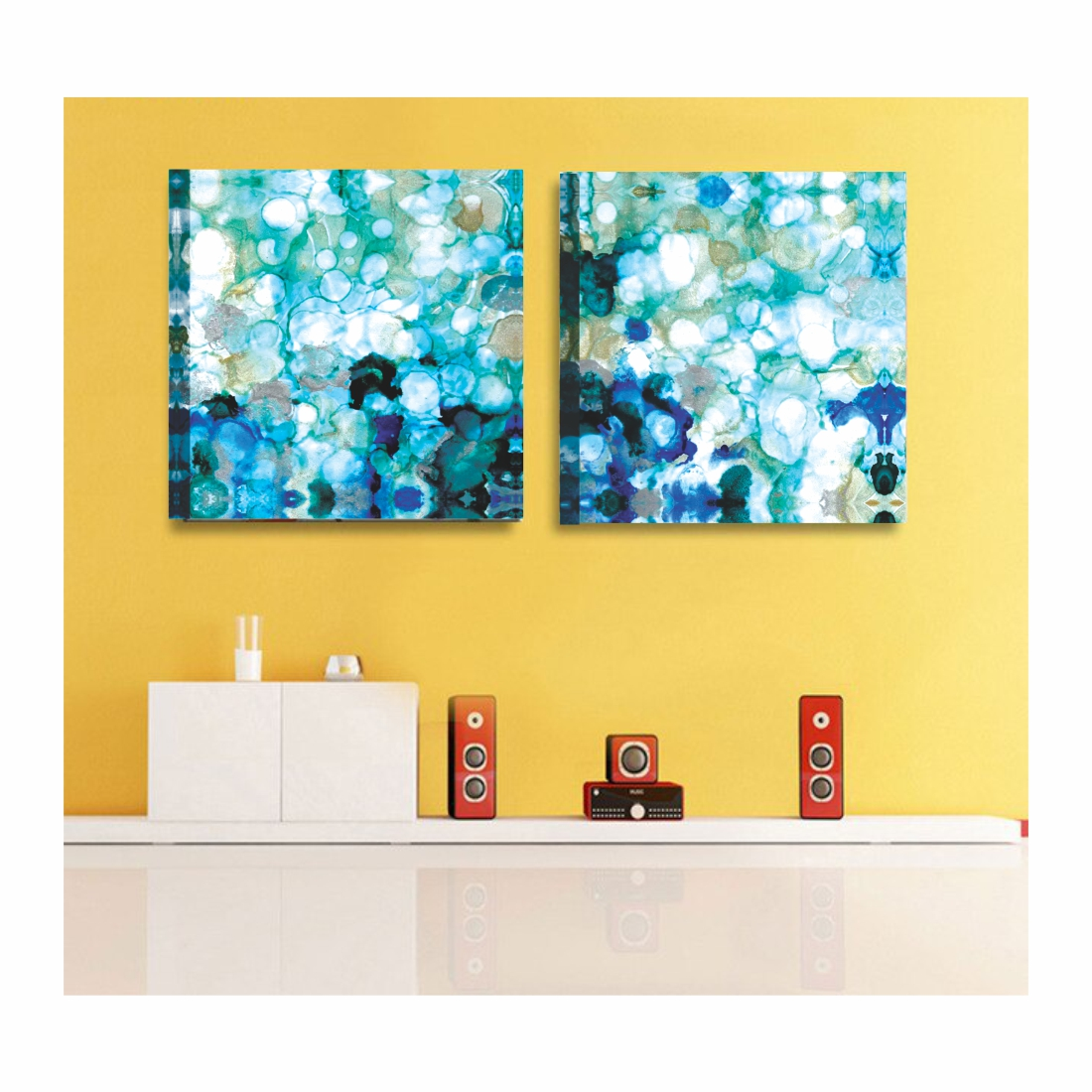 Beautiful Flower Canvas  Painting, 6Inch X 14 Inch Each Set