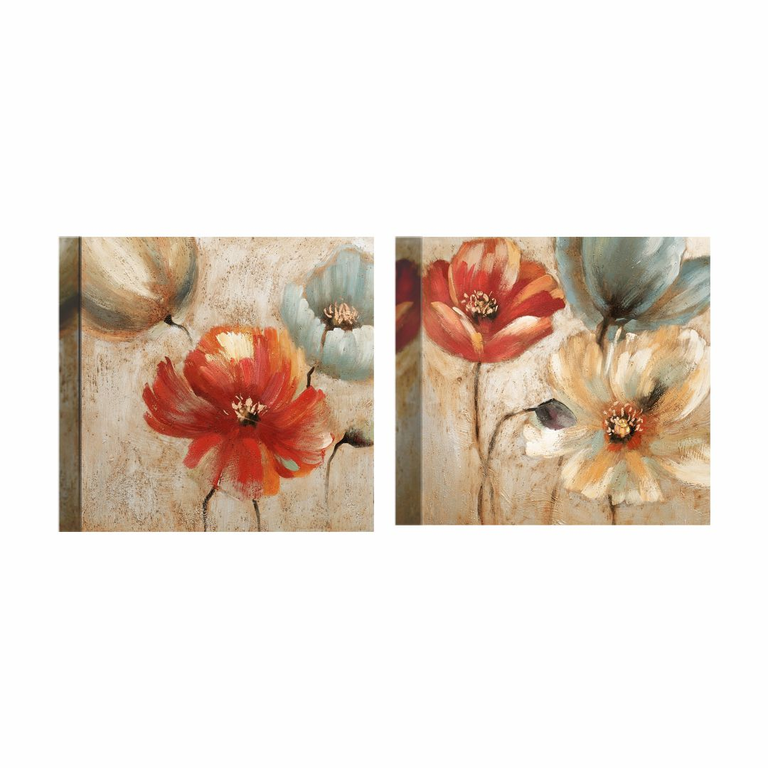 Flowers Beautiful Canvas Wall Painting 23.6 inch x 11.8 inch Canvas 11.8 inch x 23.6 inch Painting