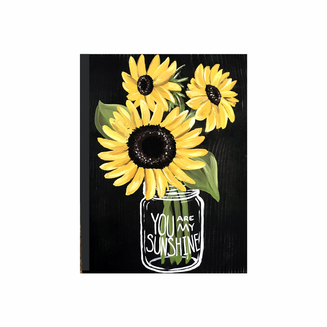 Beautiful  yellow flower You are  my sunshine painting Modern Canvas wallart Painting   30Cm X 40Cm
