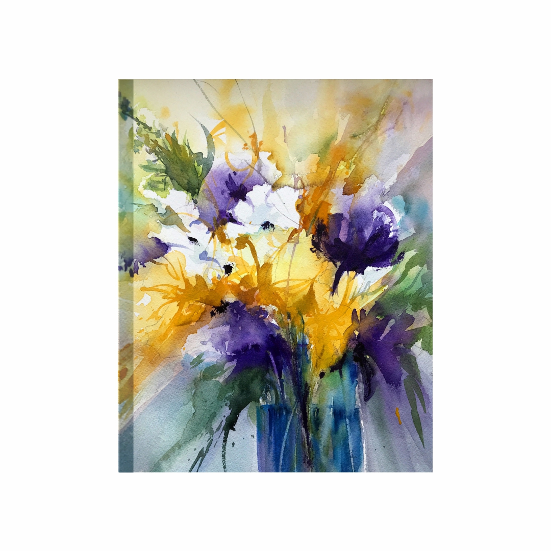 Colourful bouquet flower  Modern Canvas wallart Painting   30Cm X 38Cm