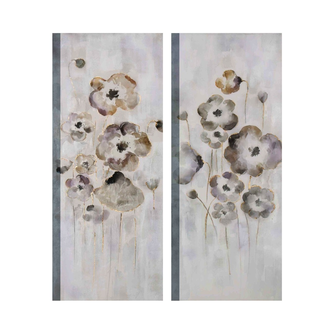 Flower Craft Painting Multi Piece Canvas Abstract WallPainting 24CmX58Cm