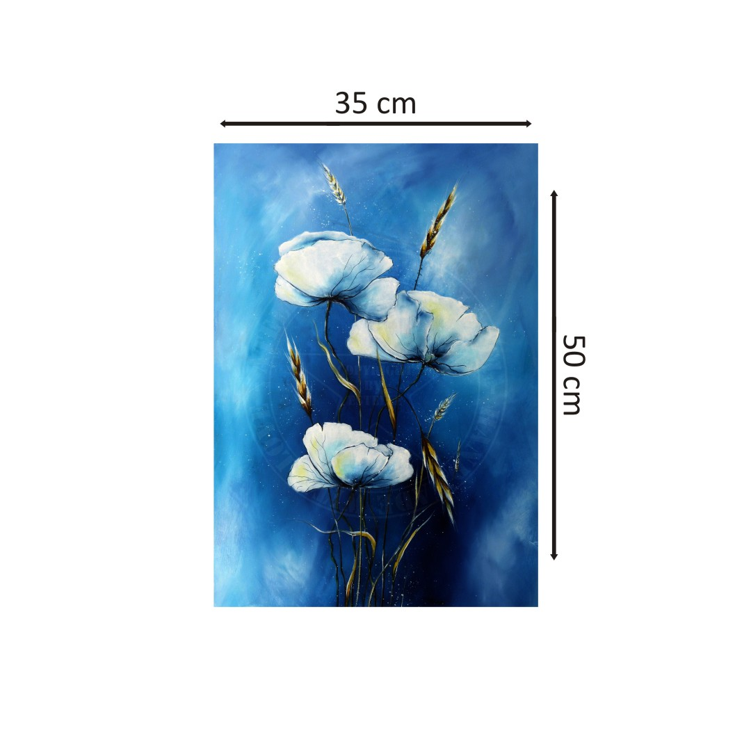 Canvas lily of the valley Abstract  WallPainting  Wallart 35CmX50Cm