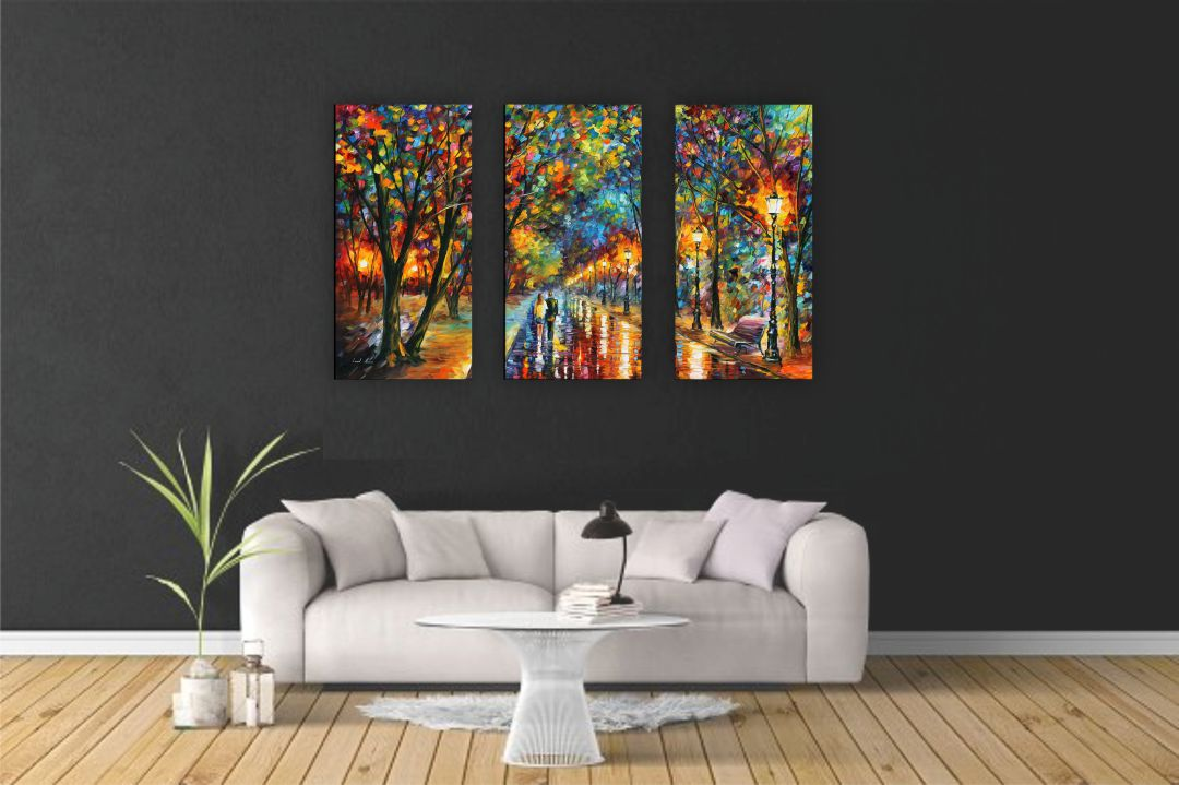 Multicolour The Dreams Came True Wall Painting 13 Inch X 24 Inch Each Panel