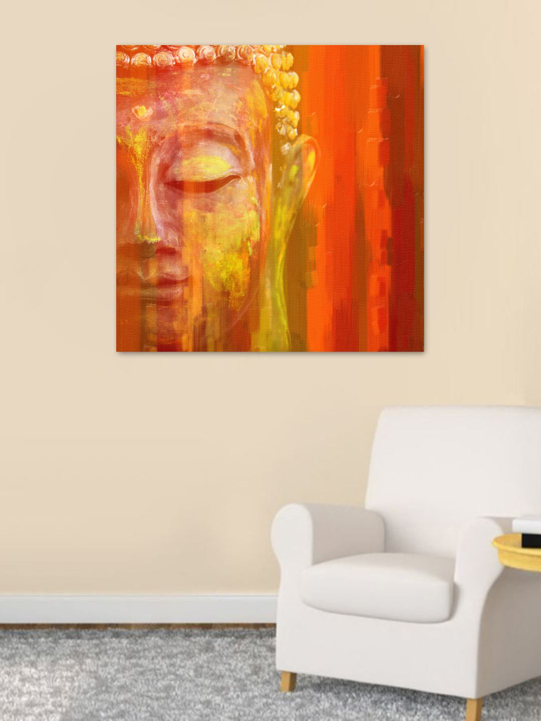 Lord Buddha  Beautiful Wall Painting 20 inch x 20 inch